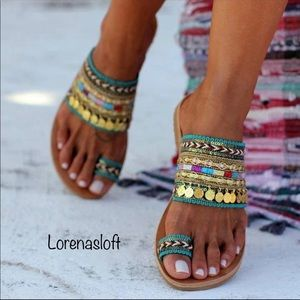 Shoes - Last one Boho Artisanal Sandals FlipFlops